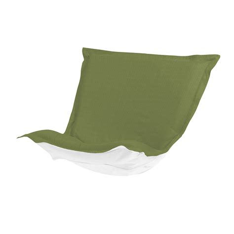 puff chair cover with cushion sunbrella seascape moss