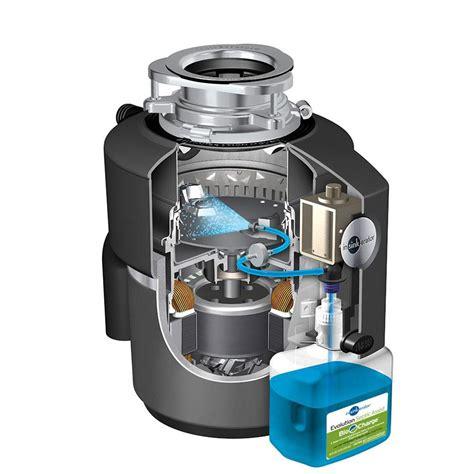 sink garbage disposer insinkerator evolution septic assist 3 4 hp