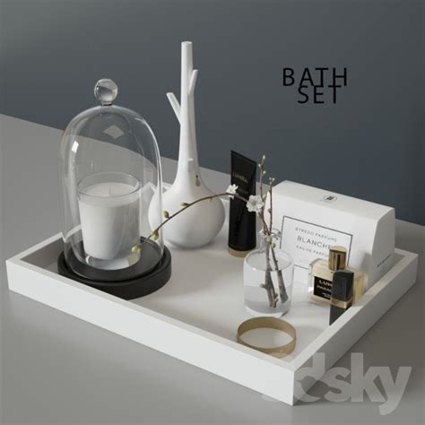 3d models bathroom accessories bath set