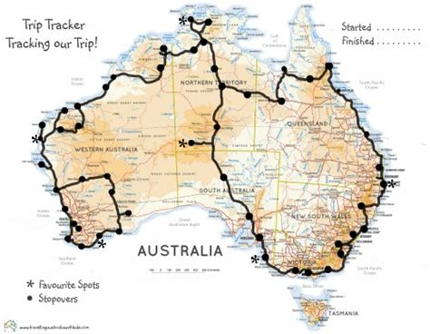 printable route planner australia travelling australia with kids blog