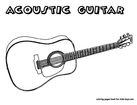 Acoustic Guitar Coloring Page | amazing acoustic guitar printables wood guitars free