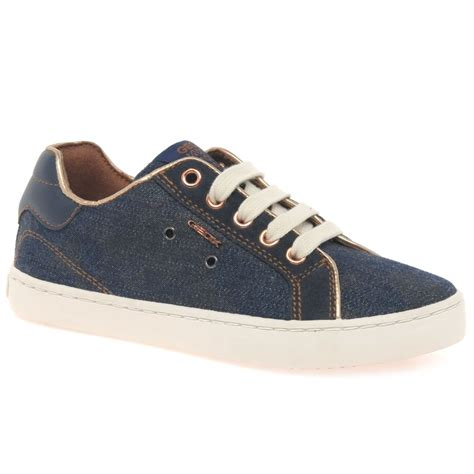 geox junior kiwi lace up sneakers charles clinkard