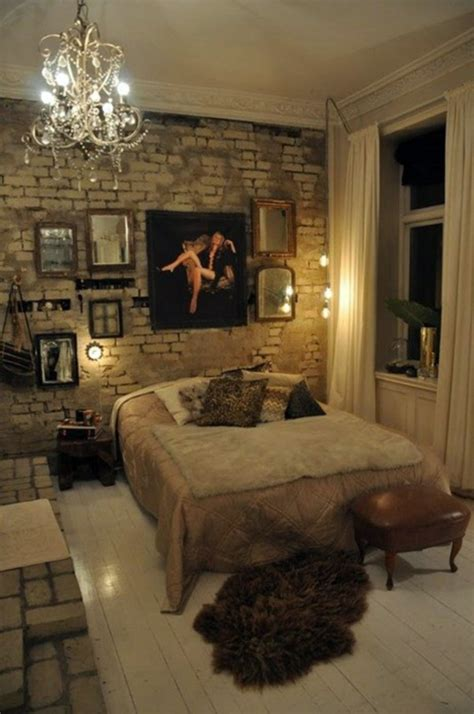 How You Could Decorate A Brick Wall Behind Your Bed 31 How To Decorate A Brick Wall