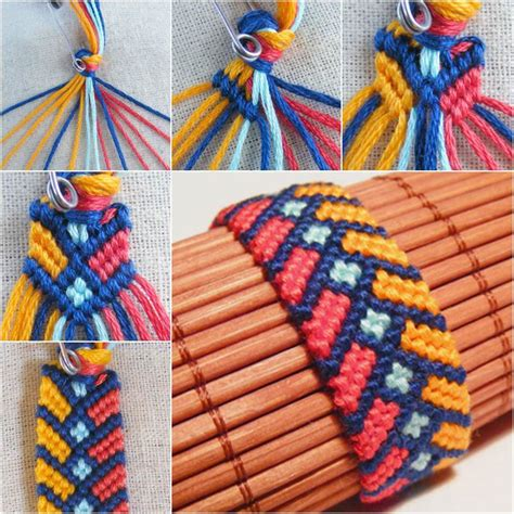 Knots Knitting On The Square - diy stylish square knot macrame bracelet