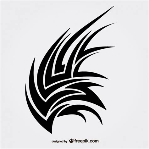 tattoo vector images sharp tribal editable tattoo vector free download