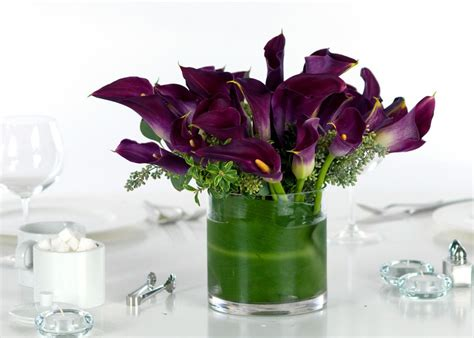 simple calla wedding centerpieces mini