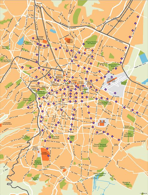 map of mexico df mexico df vector maps as digital file purchase