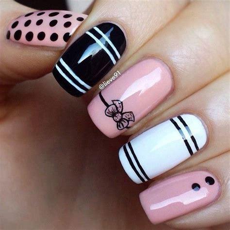 nail art ribbon design tutorial 30 cool nail designs easily painted at home