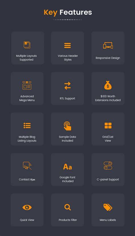 menu grid layout sj market responsive multipurpose virtuemart theme by