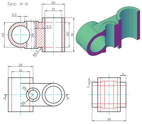 tavole disegno meccanico esempi disegni meccanici autocad solidworks rhinoceros