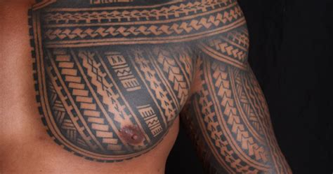 shane tattoos polynesian sleeve chest tatau tattoo shane tattoos polynesian samoan inspired chest and sleeve