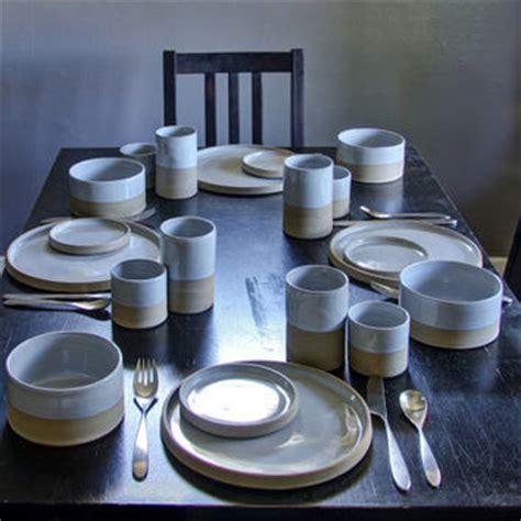 Handmade Dinnerware Sets - modern dinnerware dish set handmade from vitrifiedstudio