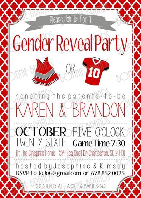 printable birthday invitations football theme customized printable baby gender reveal invitation