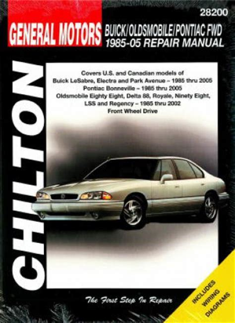 free service manuals online 1986 pontiac bonneville transmission control chilton gm bonneville eighty eight lesabre 1985 2005 repair manual