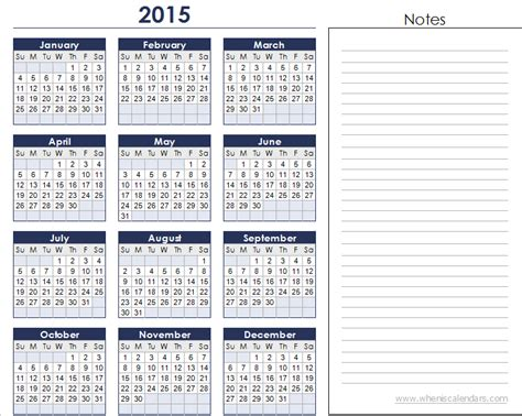 Yearly 2015 Calendar Template yearly calendar templates 2015 calendar 2017 2018