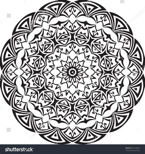 circular tribal tattoo tribal circular raster stock photo 375104827