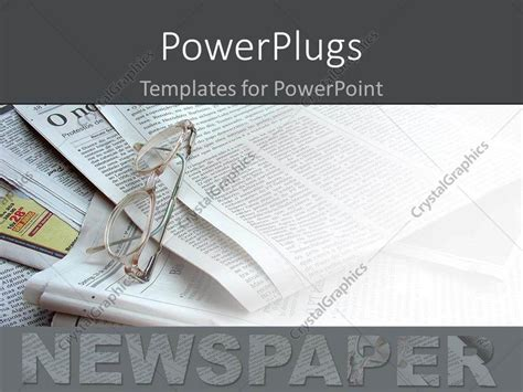 Powerpoint Template Newspapers In The Background White Newspaper Powerpoint Background