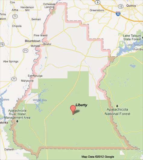liberty county map liberty county florida map