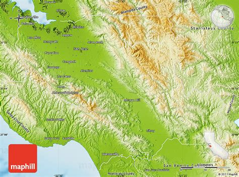 Records Santa Clara County Physical Map Of Santa Clara County