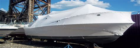 boat shrink wrap with electric heat gun chicagoland shrinkwrapping servicing northwest indiana