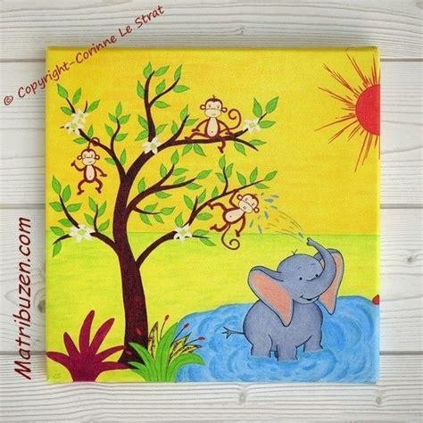 tableau pour chambre d enfant et b 233 b 233 sur le th 232 me de la savane jungle triptyque quot la savane1