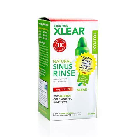 Sinus Care xlear sinus rinse with xylitol and saline solution