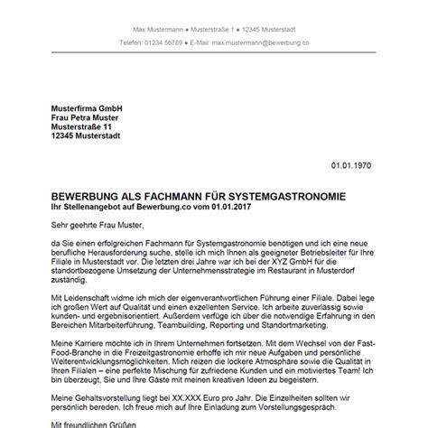 Anschreiben Ausbildung Systemgastronomie Bewerbung Als Fachmann F 252 R Systemgastronomie Fachfrau F 252 R Systemgastronomie Bewerbung Co