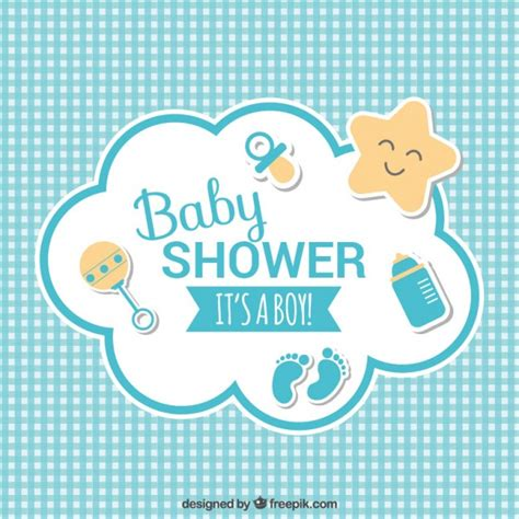 Baby Shower by Baby Shower Card Vector Free