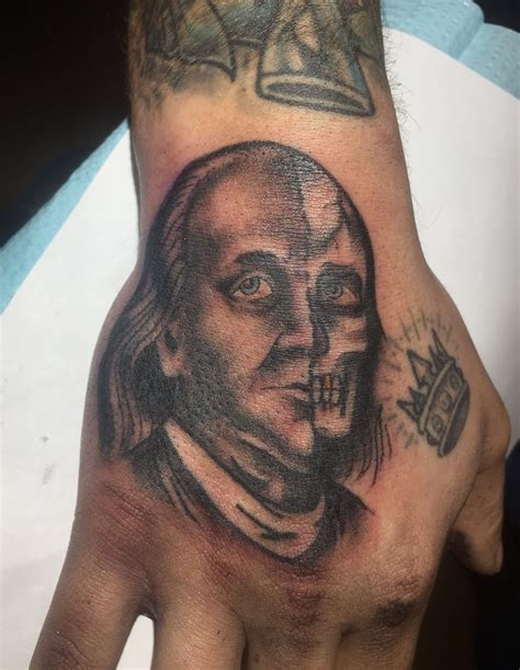 benjamin franklin tattoo two faced benjamin franklin made by jef wright