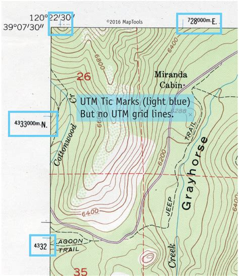 utm map utm coordinates on usgs topographic maps