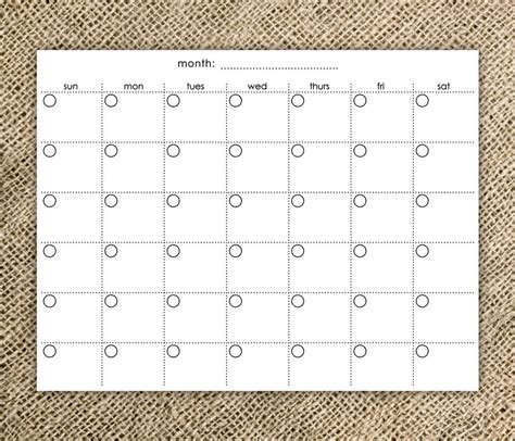 simple monthly calendar template easy fill in calendar calendar template 2016