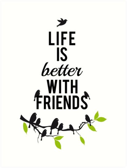 Wall Stickers Birds quot life is better with friends birds on tree branch quot art