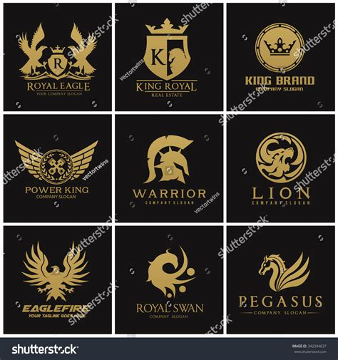 Auto Logo Eagle by Crest Logo Collection Logo Set Logo Collection Automotive