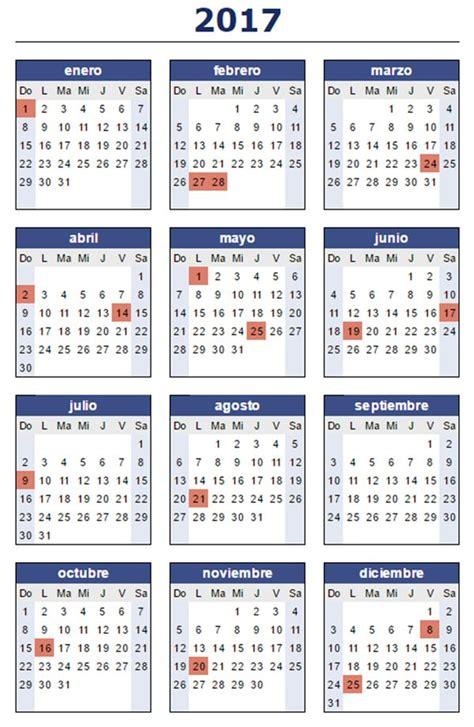 Calendario 2017 Y Sus Feriados 191 C 243 Mo Quedaron Los Feriados Para El 2017 Que Pasa