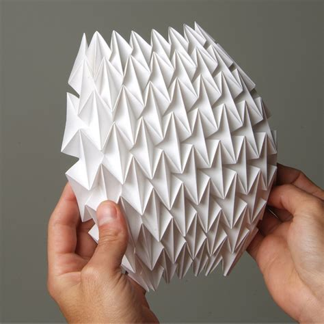 Simple Paper Folding Techniques - barlow visual merchandising student