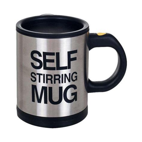 Produk Terbaru Self Stiring Mug Gelas Pengaduk Otomatis Self Stirring jual self stirring mug gelas pengaduk otomatis hitam