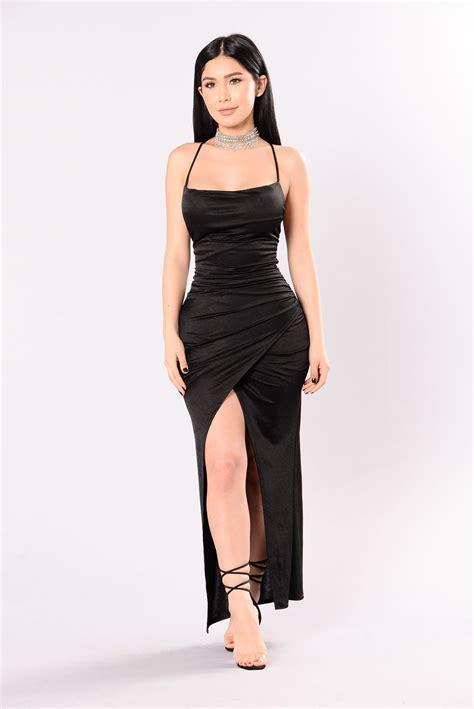 classic  number dress black