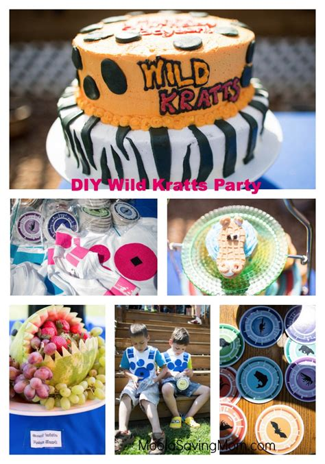 diy wild kratts birthday party moola saving mom