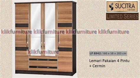 Lemari Pakaian Minimalis 2pintu Sucitra Lp 1522 lp 8942 lemari 4 pintu minimalis sucitra limited series