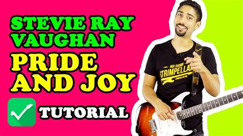 tutorial blues riff iniziale  pride  joy stevie ray vaughan lezioni  chitarra blues