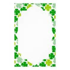 march printable stationary printable shamrock stationery freeprintable com st