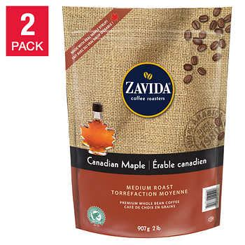 zavida canadian maple  bean coffee  pack
