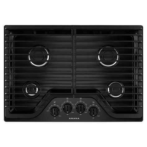 black gas cooktops amana 30 in gas cooktop in black with 4 burners