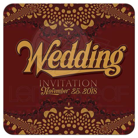 Tribal Batik warm earth i2 tribal batik wedding invitation