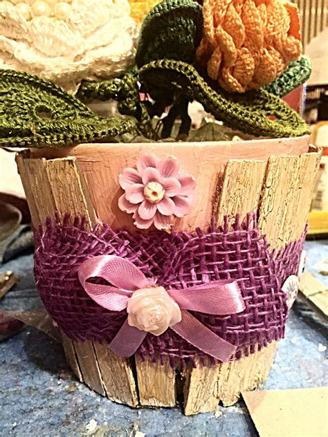 decoupage su vasi di terracotta vasi in terracotta artigianale per la casa e per te
