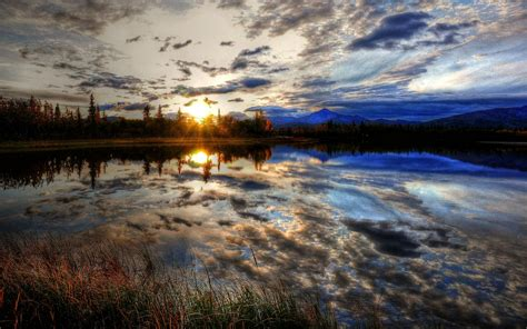 hdr photography landscapes reflections skyscapes sunset