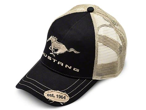 ford mustang mustang trucker hat black and bdfmeh156