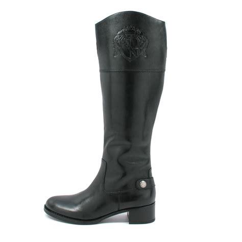franco sarto s chip boots black leather