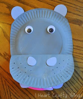 hippo paper plate craft 25 easy paper plate crafts for preschoolers
