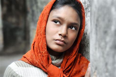 Orange Girlset in orange headscarf david lazar